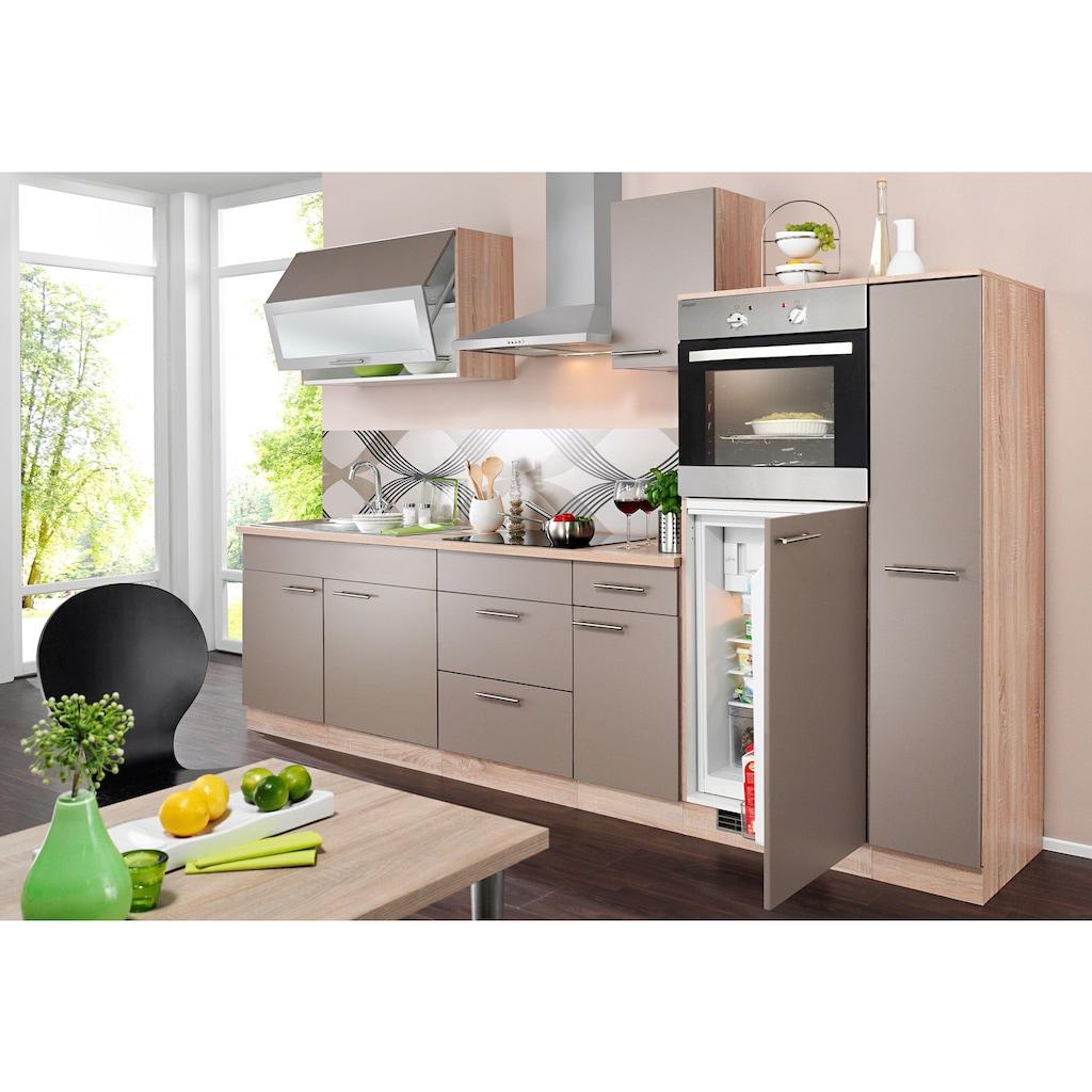wiho Küchen Küchenzeile »Montana«, mit E-Geräten, Breite 290 cm