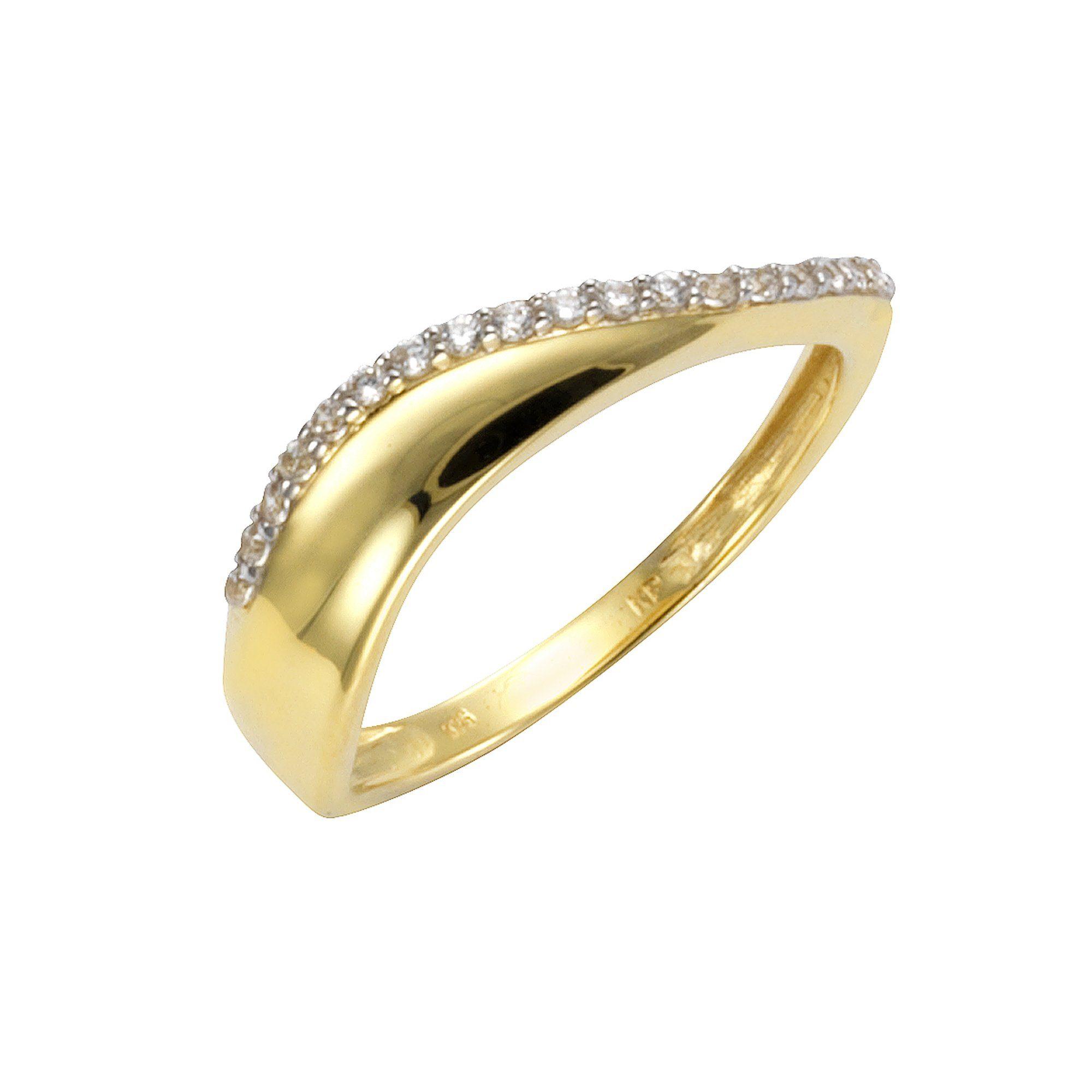 CELESTA Ring 375/- Gelbgold Zirkonia | Schmuck > Ringe > Goldringe | Gelb | Celesta