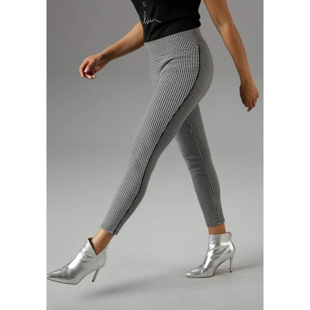 Aniston SELECTED Leggings, mit Zierpaspel in der Seitennaht - NEUE KOLLEKTION
