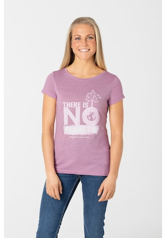 SUPER.NATURAL T-Shirt »W FOR FUTURE TEE«, cooler Print, funktioneller Merino-Materialmix kaufen