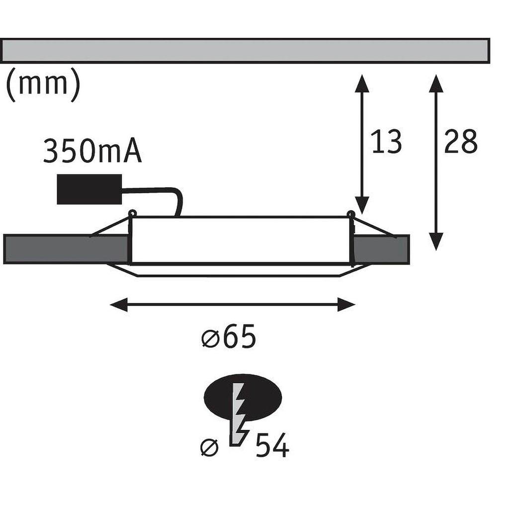 Paulmann LED Einbaustrahler »Möbeleinbauleuchte rund 2er-Set 2x2,5W Chrom«, Warmweiß