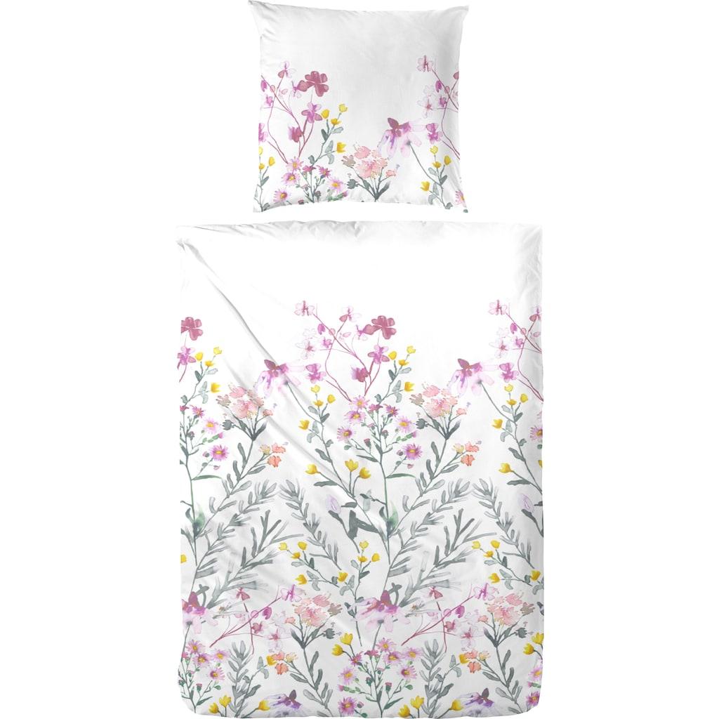Primera Bettwäsche »Blütenmeer«, mit frischen Blumenranken