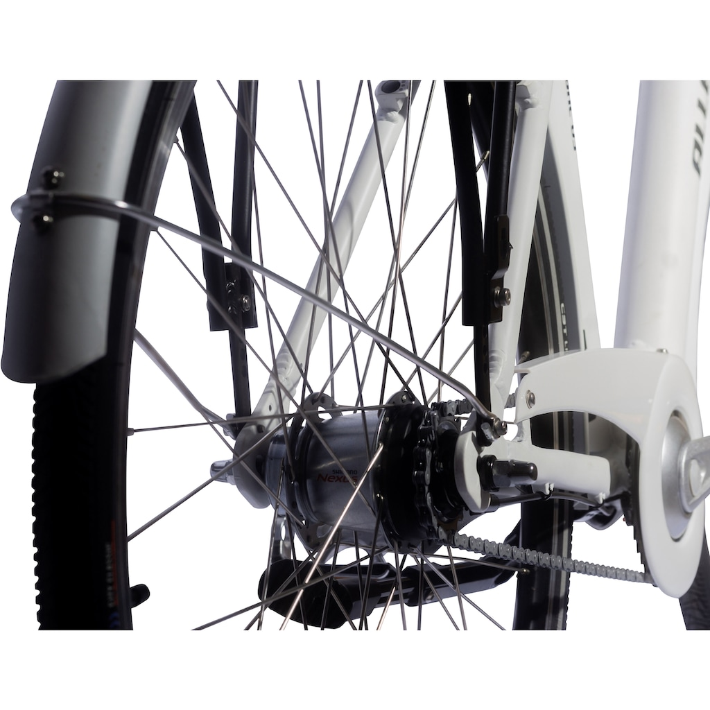 ALLEGRO E-Bike »Elegant 03 White«, 7 Gang, Shimano, Nexus, Frontmotor 250 W