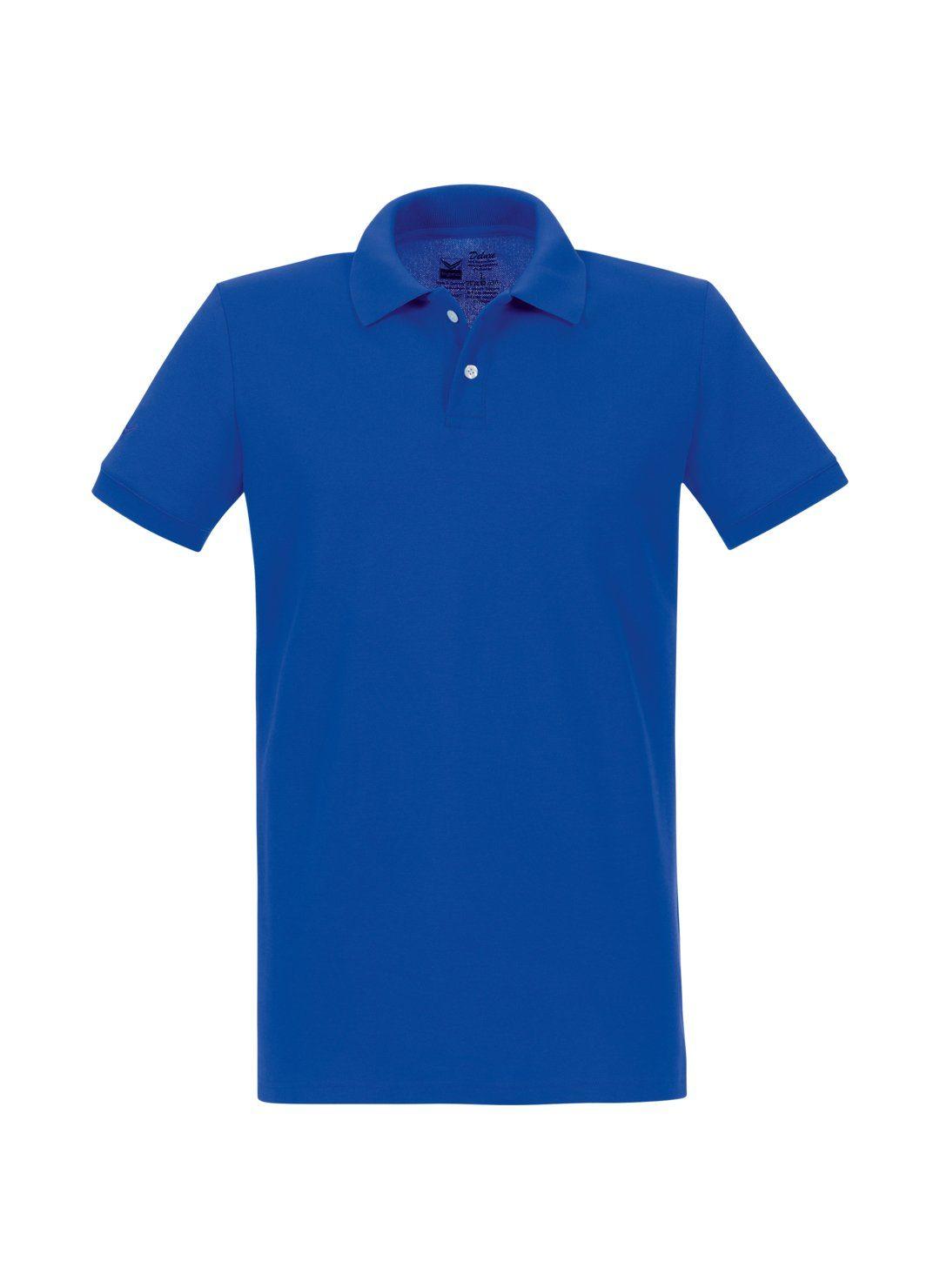 Trigema Poloshirt aus elast Piqué | Bekleidung > Shirts > Poloshirts | Blau | Trigema