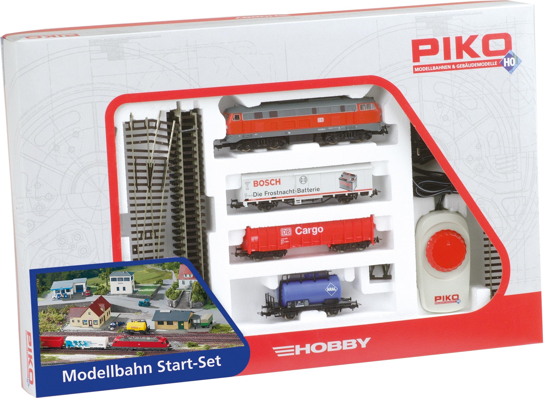 PIKO Modelleisenbahn Startpaket BR 218 DB Cargo mit 3 Güterwagen, (57154) bunt Kinder Loks Wägen Modelleisenbahnen Autos, Eisenbahn Modellbau