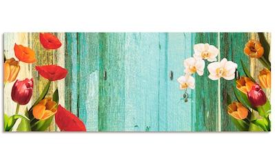 Artland Schlüsselbrett »Bunte Blumen« kaufen