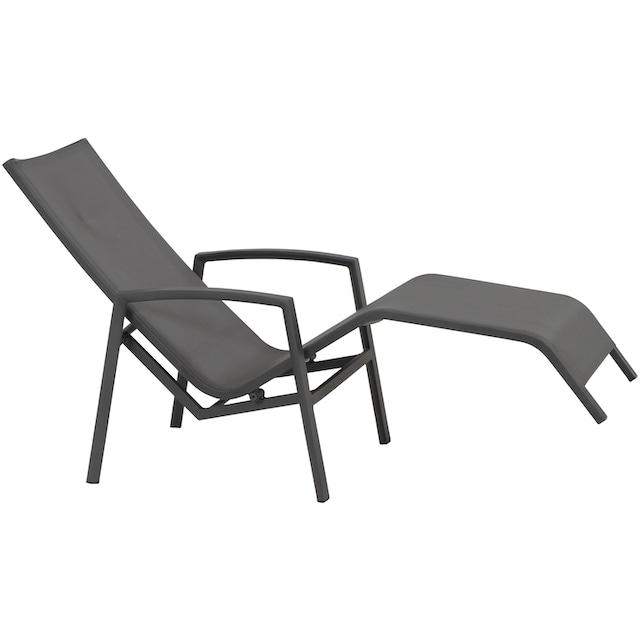SIENA GARDEN Gartenliege »Gerona Liege«, Aluminium/Polyrattan