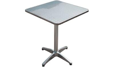 Garden Pleasure Gartentisch »Bistro Tisch, quadratisch, Alu-Gest«, mit hochwertigem Aluminium-Gestell kaufen