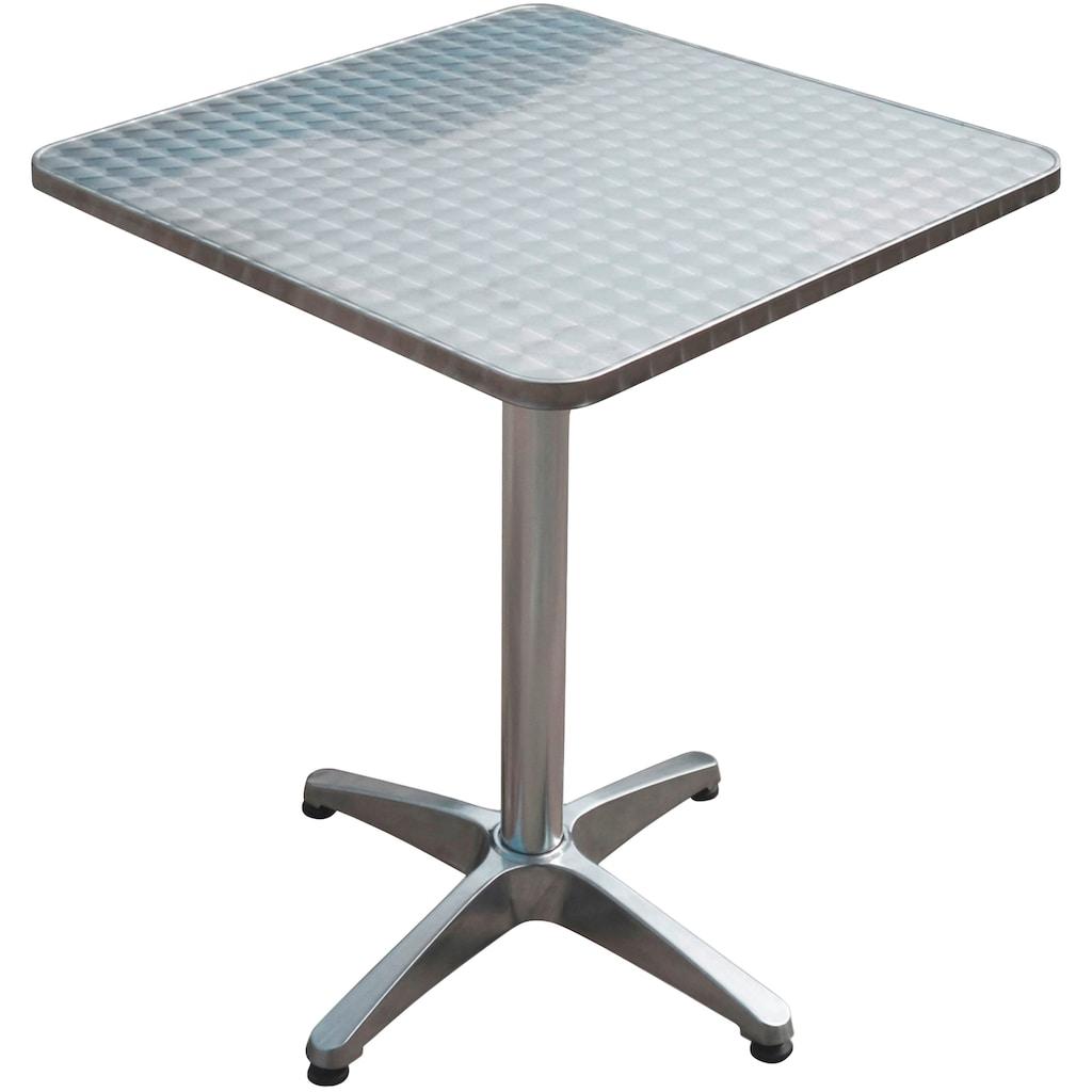 Garden Pleasure Gartentisch »Bistro Tisch, quadratisch, Alu-Gest«, mit hochwertigem Aluminium-Gestell