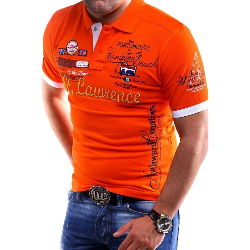 behype Poloshirt »LAWRENCE«, in Piqué-Qualität