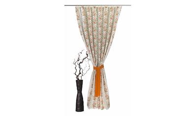 VHG Vorhang »Chrissi«, Leinenoptik, Rose, Streifen, gerader Abschluss kaufen