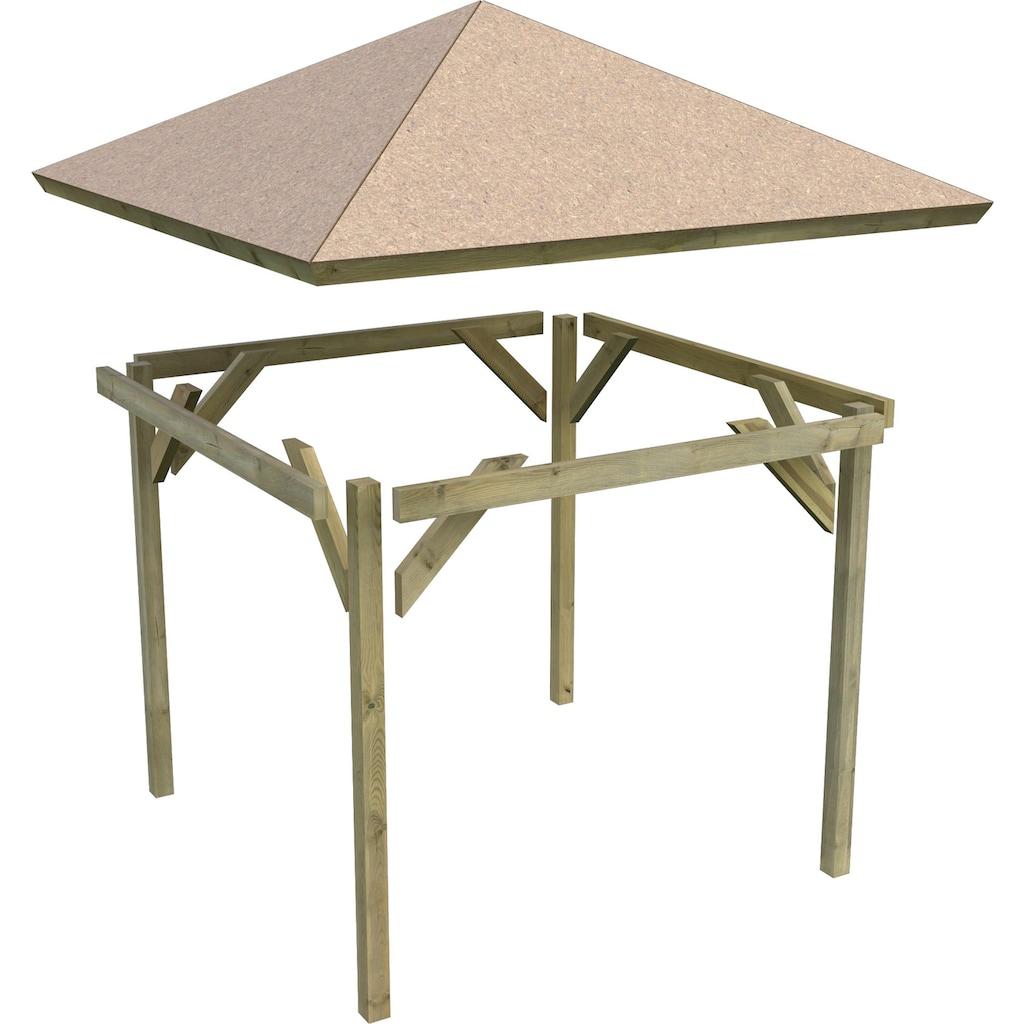 Karibu Holzpavillon »Cordoba«, BxT: 357x357 cm
