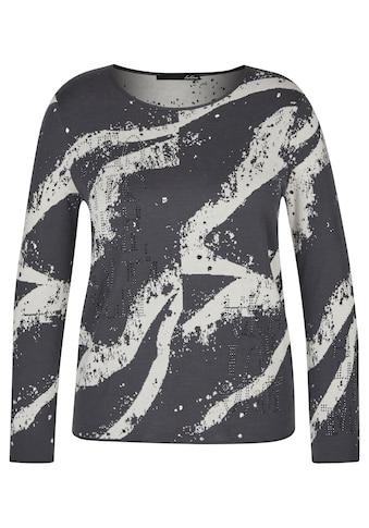LeComte Pullover mit abstraktem Allover-Muster und Glitzersteinen kaufen