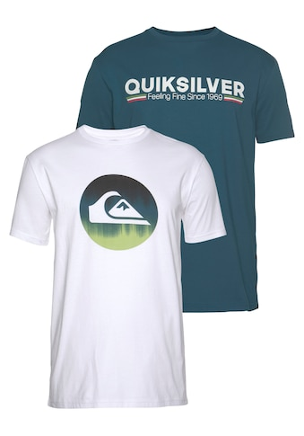 Quiksilver T - Shirt »BURNING RAGER FLAXTON PACK« (Packung, 2er - Pack) kaufen