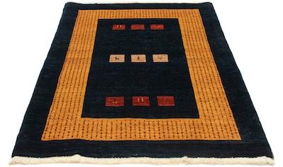 morgenland Wollteppich »Loribaft Teppich handgeknüpft dunkelblau«, rechteckig, 18 mm... kaufen