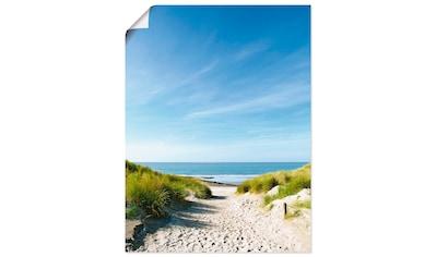 Artland Wandbild »Strand mit Sanddünen und Weg zur See«, Strand, (1 St.), in vielen Größen & Produktarten - Alubild / Outdoorbild für den Außenbereich, Leinwandbild, Poster, Wandaufkleber / Wandtattoo auch für Badezimmer geeignet kaufen