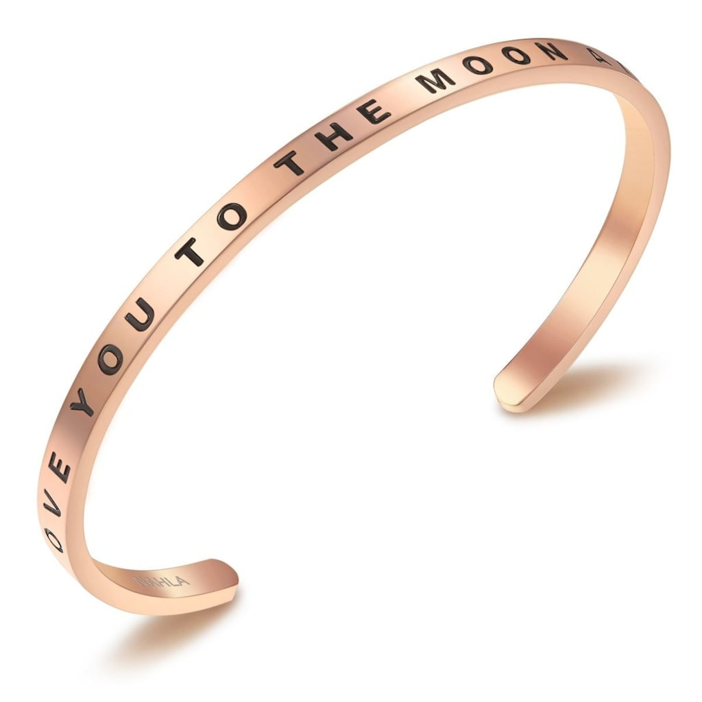 Nahla Jewels Armreif »X245«, (1 tlg.), mit Slogan I LOVE YOU TO THE MOON AND BACK