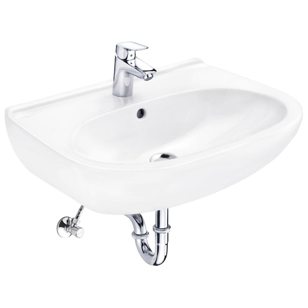 Villeroy & Boch Waschbecken »O.Novo«, mit Überlauf, Breite 60 cm, mit Armatur