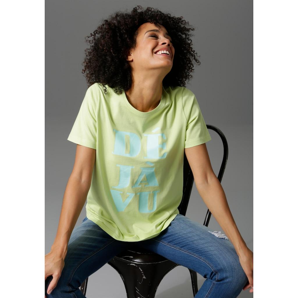 Aniston CASUAL T-Shirt, mit Déjá-vu