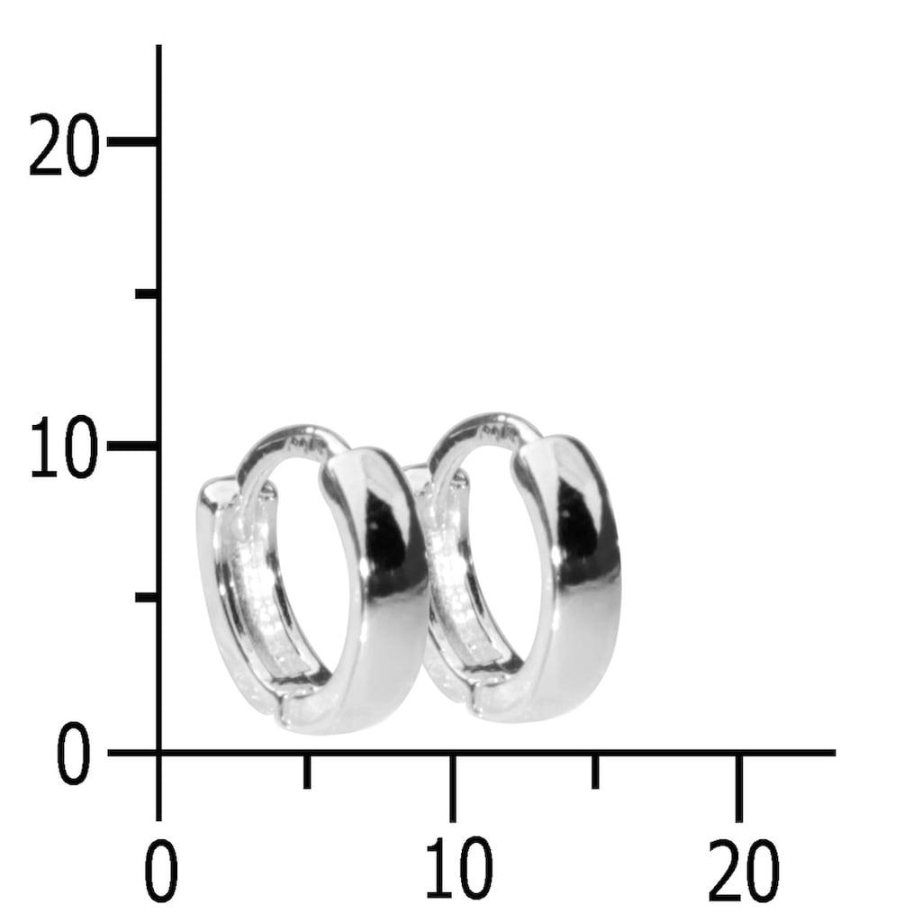 OSTSEE-SCHMUCK Paar Creolen »- Babsi 10.25 - Silber 925/000 -,«, (2 tlg.)