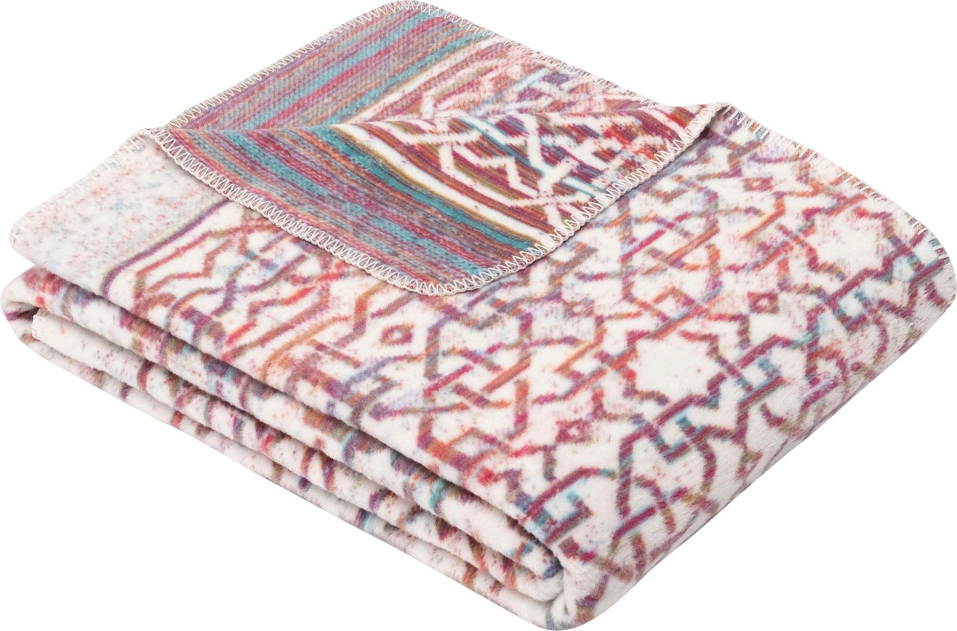 IBENA Wohndecke Punjab, mit marokkanischem Muster weiß Ibena