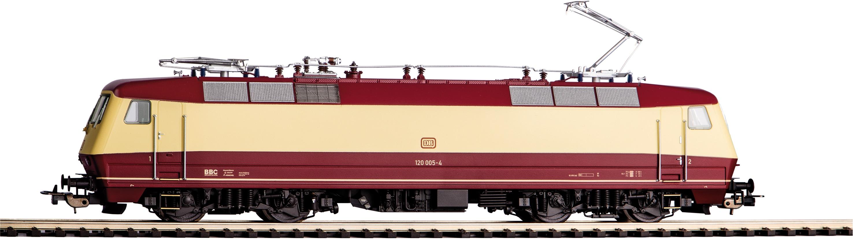 PIKO Elektrolokomotive 120 005-4 DB IV, (51320) bunt Kinder Loks Wägen Modelleisenbahnen Autos, Eisenbahn Modellbau