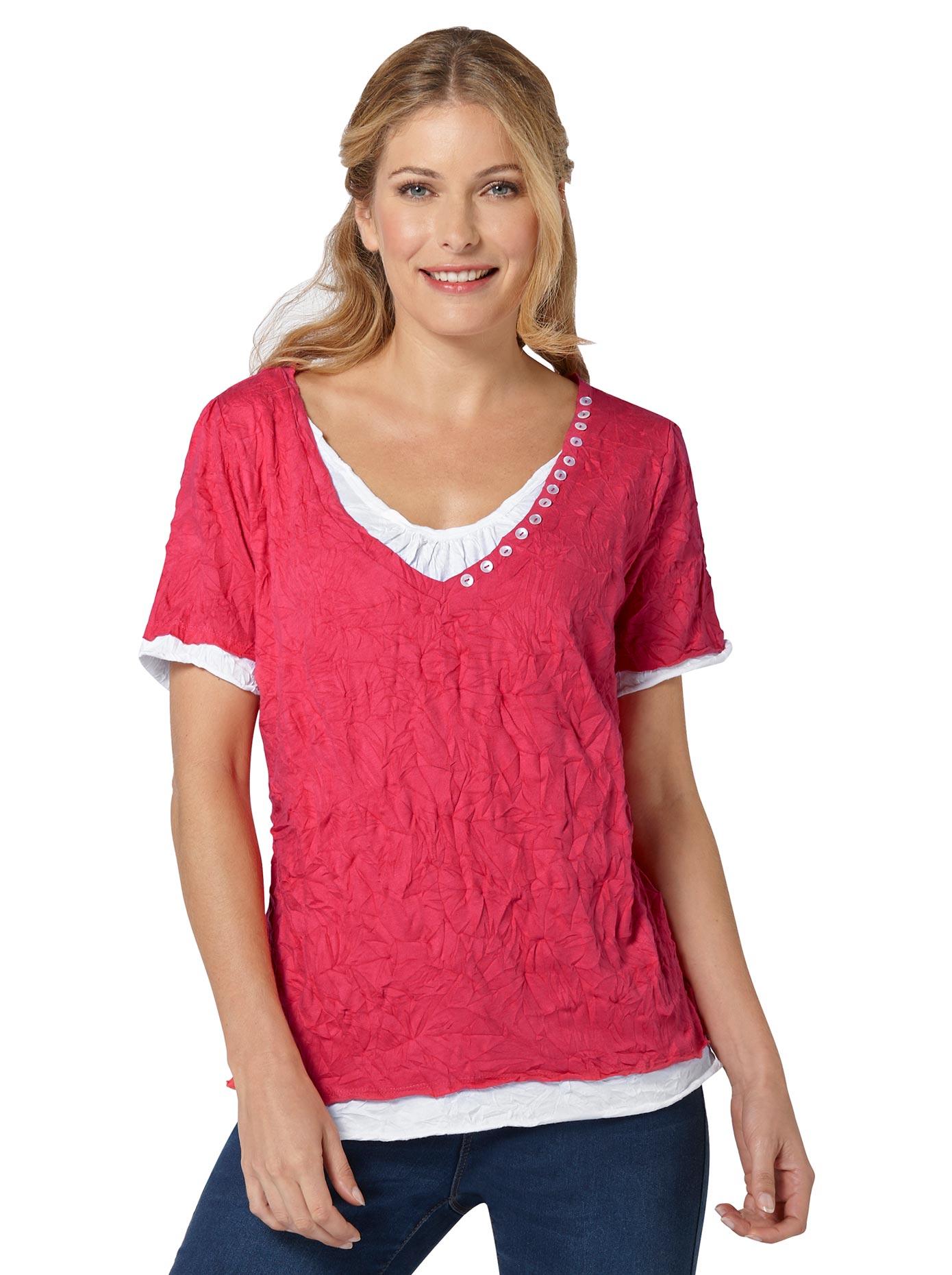 Inspirationen 2-in-1-Shirt in Crash-Optik   Bekleidung > Shirts > 2-in-1 Shirts   Inspirationen