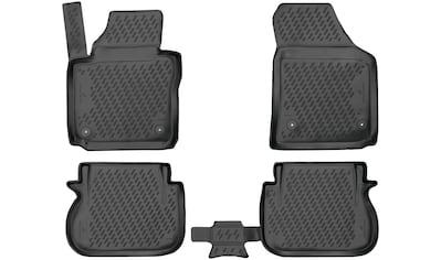 WALSER Passform-Fußmatten »XTR«, VW, Caddy, Kombi, (4 St., 2 Vordermatten, 2... kaufen