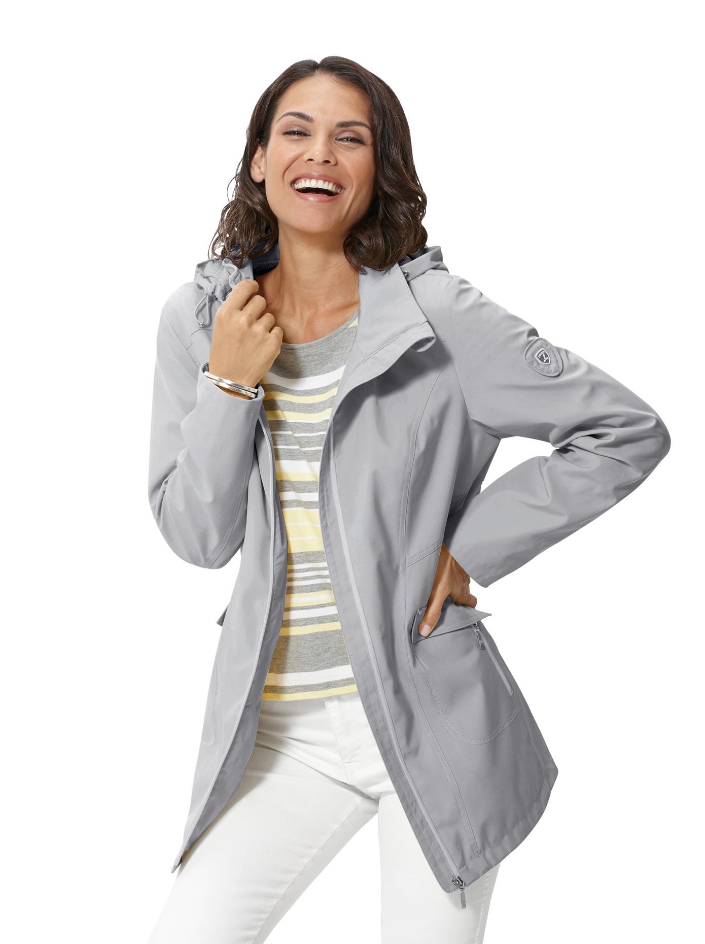 Casual Looks Softshelljacke mit abknöpfbarer Kapuze | Bekleidung > Jacken > Softshelljacken | Casual Looks