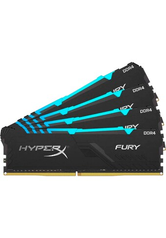 HyperX »HyperX FURY RGB  -  32GB Kit (4x8GB)  -  DDR4 3466MHz Intel XMP CL16 DIMM« PC - Arbeitsspeicher kaufen