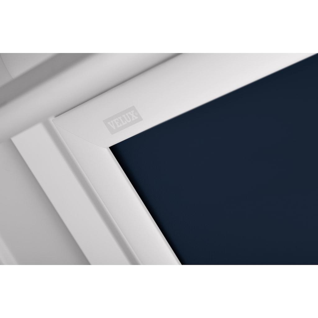 VELUX Verdunklungsrollo »DKL S04 1100SWL«, verdunkelnd, Verdunkelung, in Führungsschienen, dunkelblau
