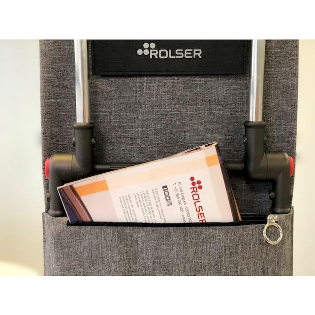 ROLSER Einkaufstrolley »Logic RD6 Kangaroo Tweed«, mit 6 Rädern, zuzammenplappbar, Treppensteiger
