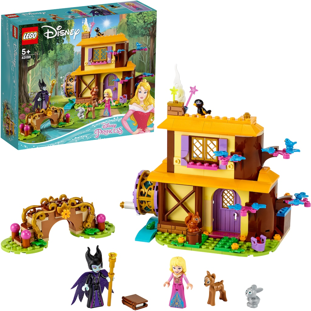 LEGO® Konstruktionsspielsteine »Auroras Hütte im Wald (43188), LEGO® Disney Princess™«