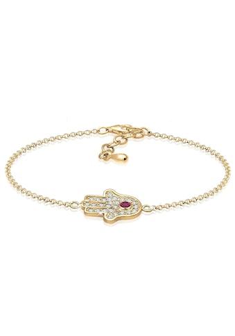 Elli Armband »Hamsa Hand Zirkonia 925 Sterling Silber« kaufen