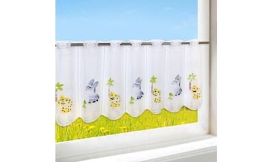 Delindo Lifestyle Scheibengardine »HAPPY ANIMALS«, HxB: 45x120, mit Stangendurchzug, für das Kinderzimmer kaufen