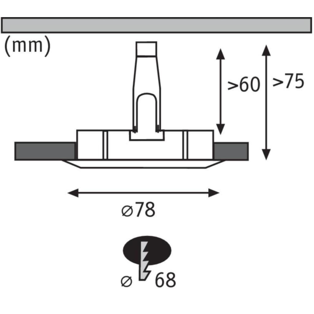 Paulmann LED Einbaustrahler »Nova rund 1x6,5W GU10 Eisen gebürstet 4000K starr«, GU10