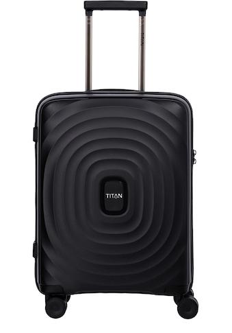 "TITAN® Hartschalen - Trolley ""Looping, 55 cm, Black"", 4 Rollen kaufen"