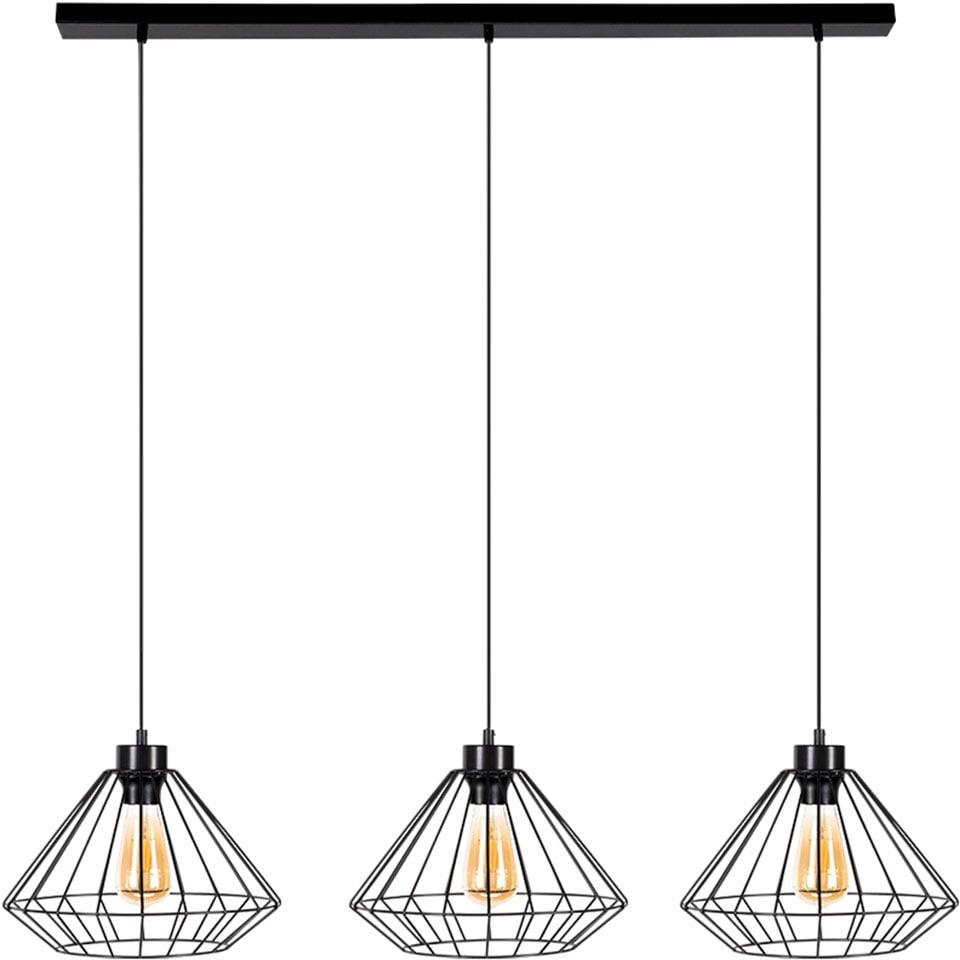 BRITOP LIGHTING Hängeleuchte Raquelle, E27, 1 St., Dekorative Leuchte aus Metall, passende LM E27 / exklusive, Made in Europe
