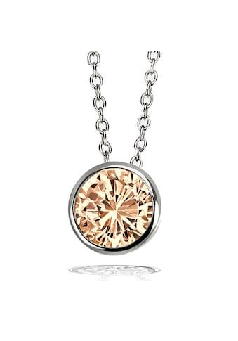 goldmaid Collier Halskette 925 Silber Ankerkette 1 Zirkonia champagner kaufen