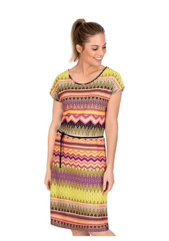 Trigema Kleid mit tollem Muster und Bindeband kaufen