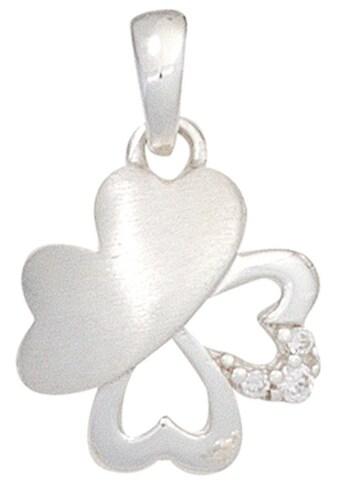 JOBO Kettenanhänger »Kleeblatt«, 925 Silber mit Zirkonia kaufen