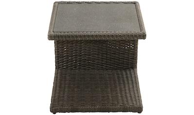 PLOSS Beistelltisch »Rocking«, (H/B/L): ca. 50x50x45 cm, Polyrattan kaufen