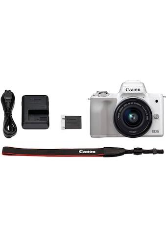 Canon Systemkamera »EOS-M50 EF-M15-45 Kit«, EF-M 15-45, NFC-WLAN (Wi-Fi)-Bluetooth, + Rucksack CB-BP100 + 32GB SD Class 10 + 10 € FGS kaufen