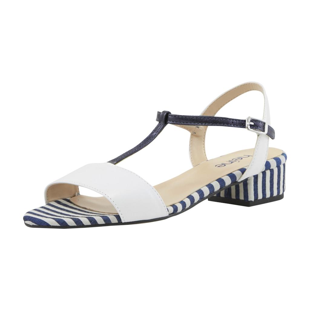 Sandalette im Streifen Dessin