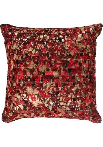 INOSIGN Sitzkissen »Ella«, Leder, quadratisch, auch passender Teppich erhältlich kaufen