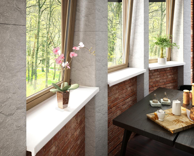Baukulit VOX Fensterbank, LxT: 200x30 cm, weiß Fenster Bauen Renovieren Fensterbank