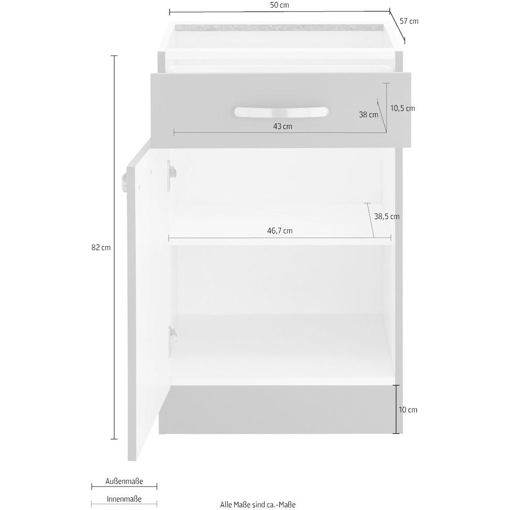 wiho Küchen Unterschrank »Kansas«, 50 cm breit, ohne Arbeitsplatte