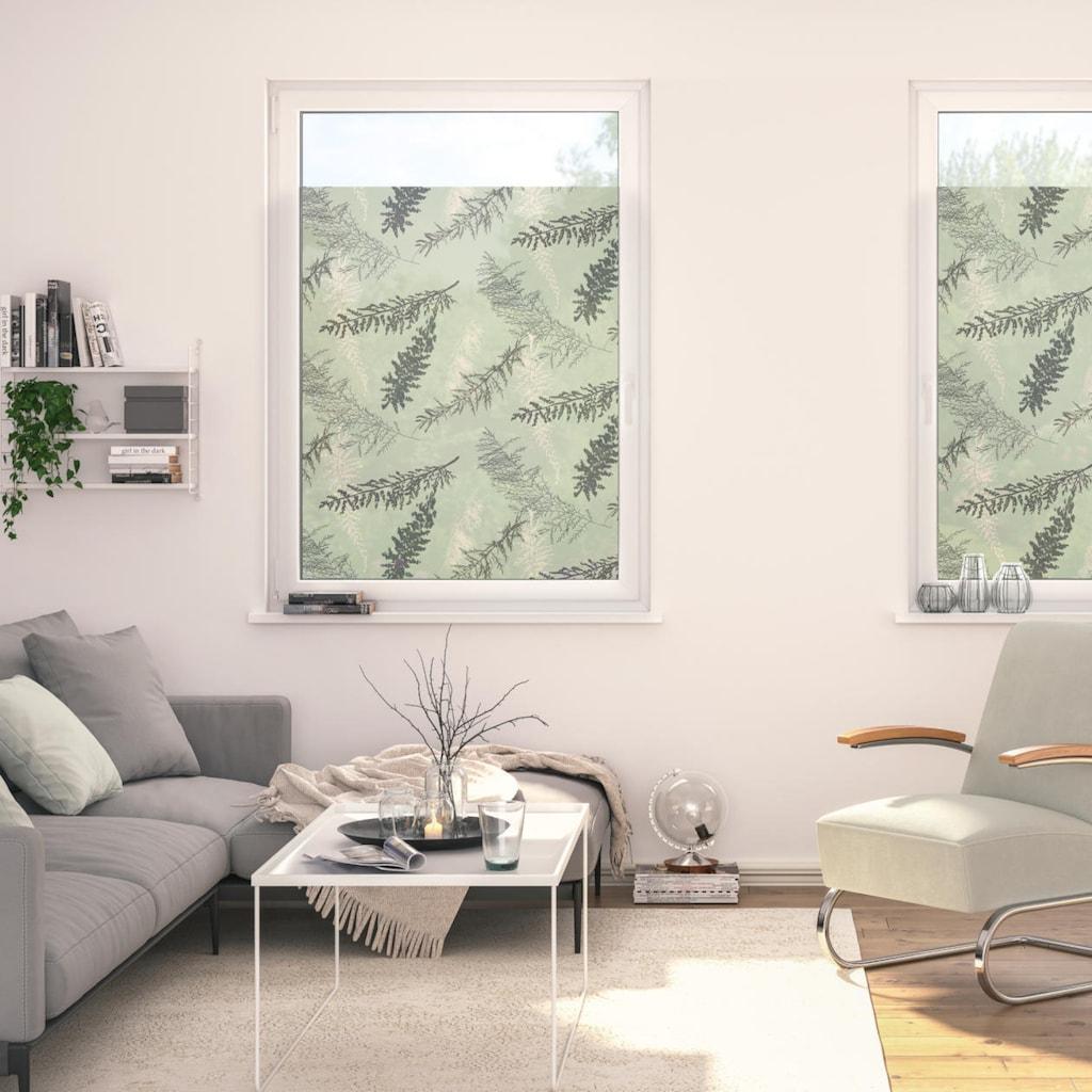 LICHTBLICK ORIGINAL Fensterfolie »Fensterfolie selbstklebend, Sichtschutz, Fir Branches - Grün«, 1 St., blickdicht, glattstatisch haftend