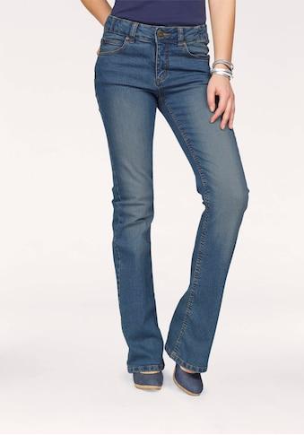 Arizona Bootcut-Jeans »Svenja - Bund mit seitlichem Gummizugeinsatz«, High Waist kaufen