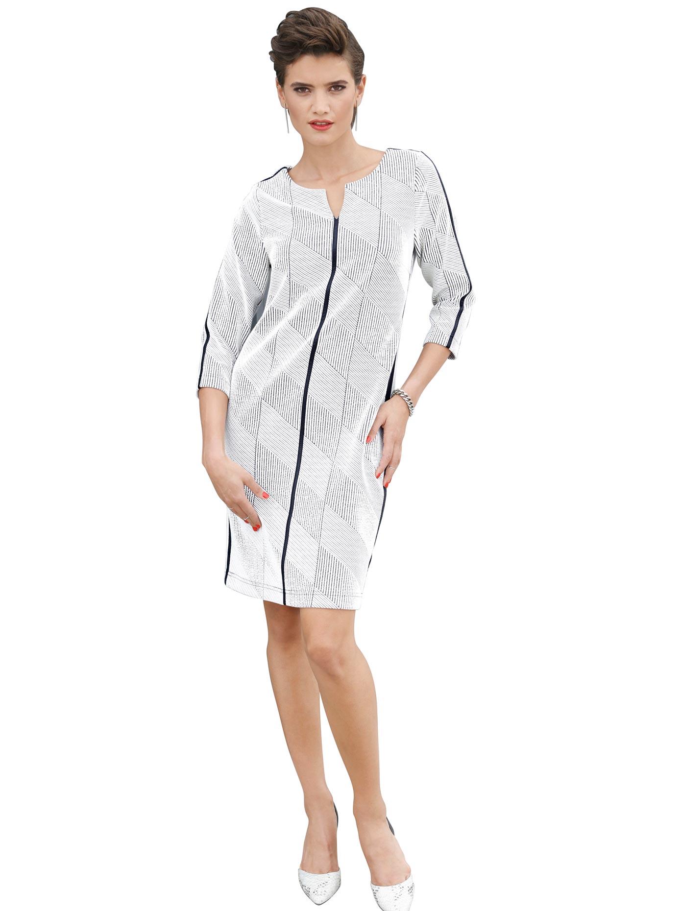Création L Jersey-Kleid mit 3/4 langen Ärmeln